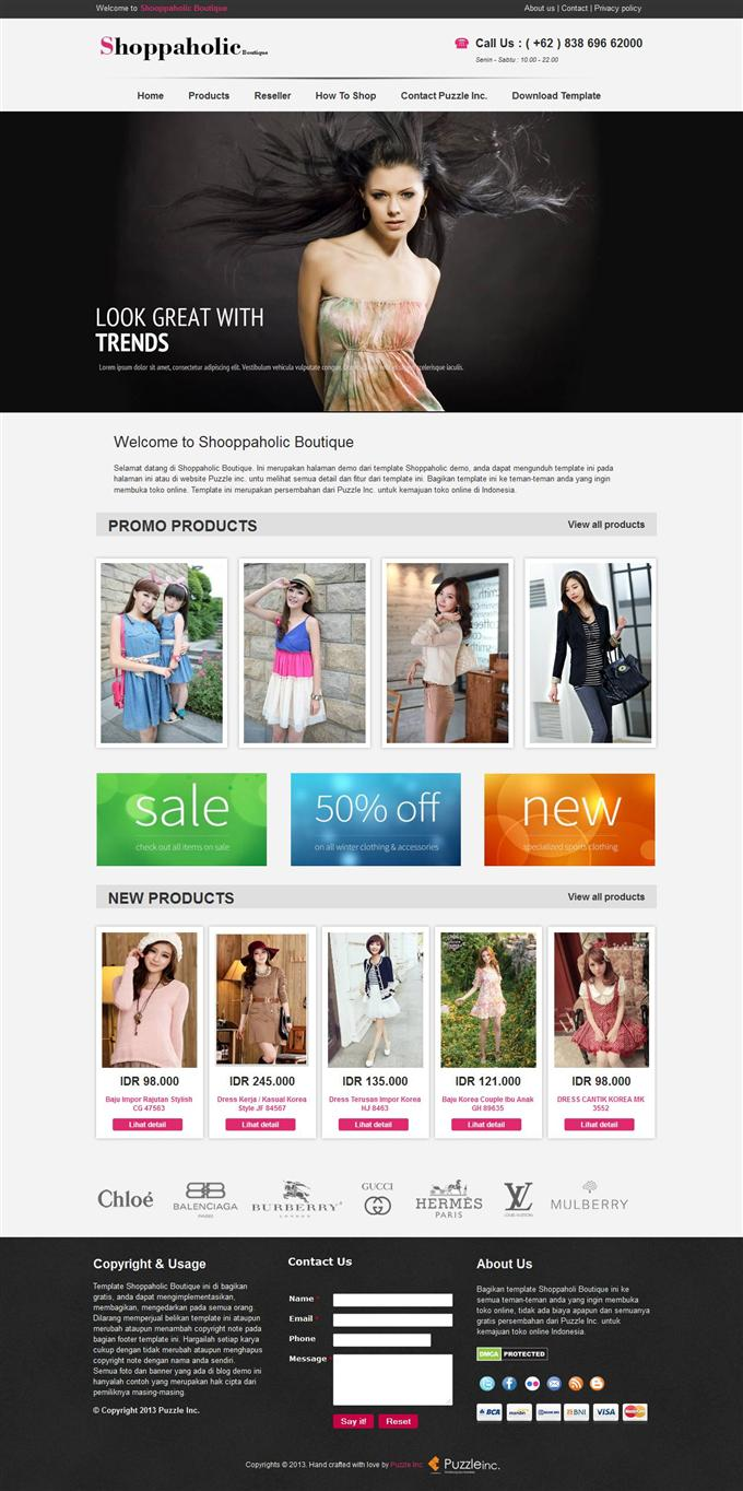 Shopaholic-Boutique-Responsive-e-shopping-Blogger-Template-Custom - 60+ Top Free Ecommerce Blogger Templates [year]