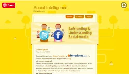 Social - 50+ Top Free Web 2.0 Blogger Templates 2019