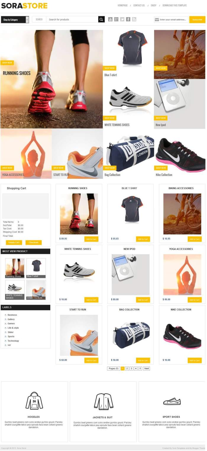 Sora_Store_Blogger_Templates-1 - 60+ Top Free Ecommerce Blogger Templates 2019