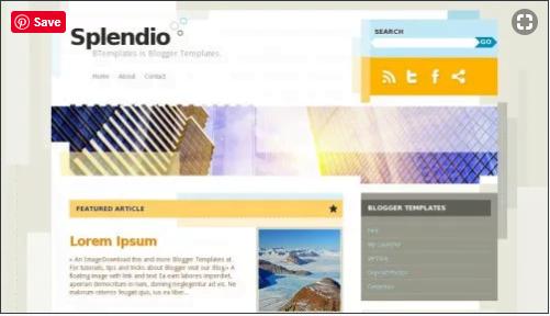 Splendio - 50+ Top Free Web 2.0 Blogger Templates 2019