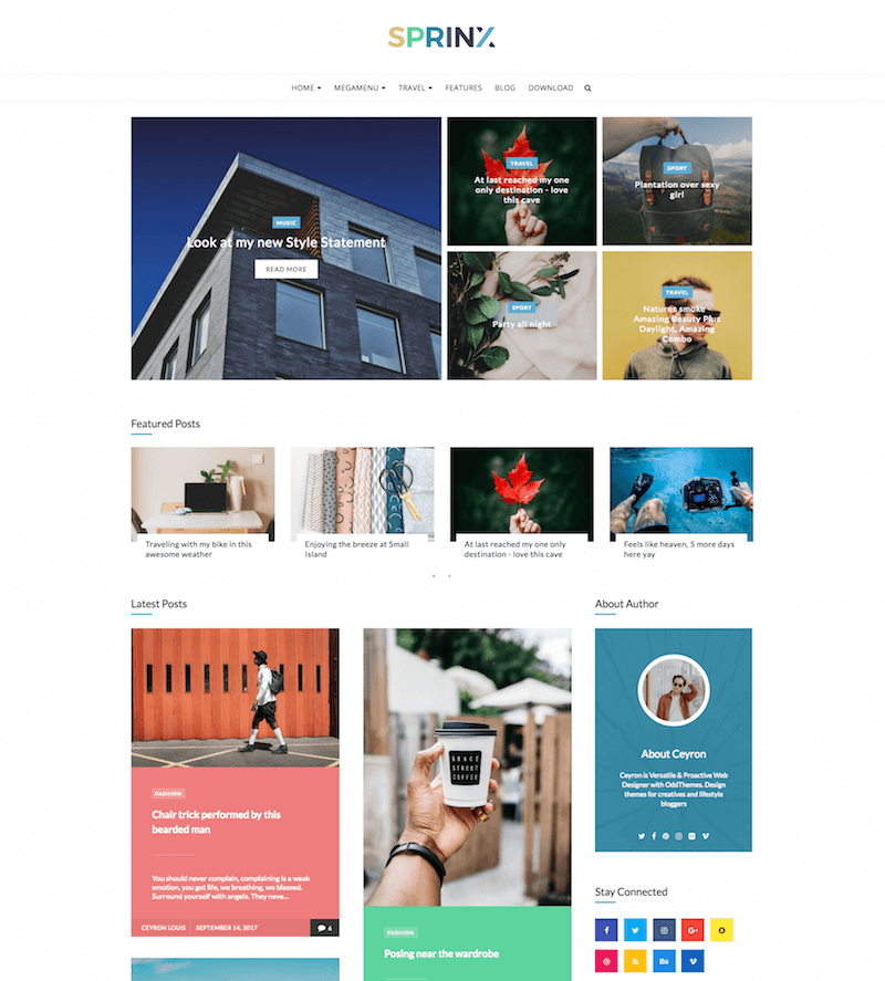 Sprinx-Free-Blogger-Theme - 53+ Top BEST Free Minimalist Blogger Templates [year]