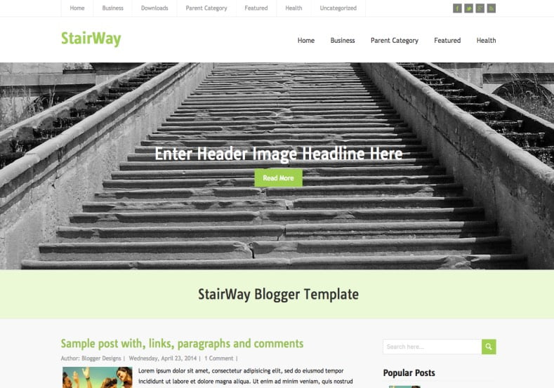 StairWay-Blogger-Template-2 - 50+ Top Free Web 2.0 Blogger Templates [year]