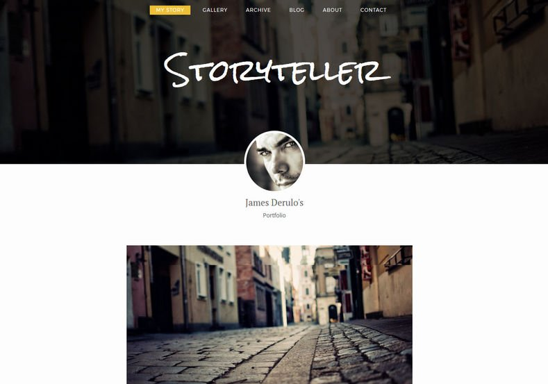Storyteller-Blogger-Template-3 - 54+ Top BEST Free One Page Blogger Templates [year]