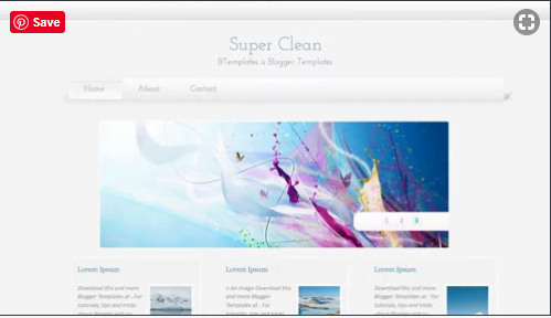 Super-Clean - 50+ Top Free Web 2.0 Blogger Templates [year]