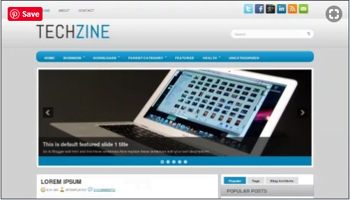 TechZine - 50+ Top Free Web 2.0 Blogger Templates [year]