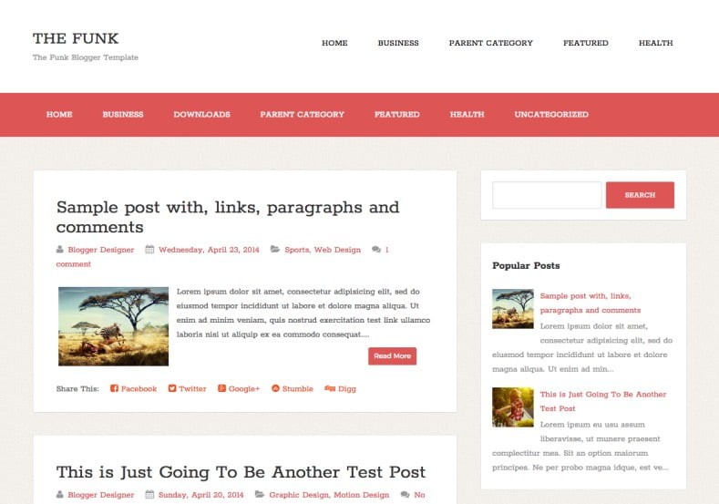 The-Funk-Blogger-Template-2 - 50+ Top Free Web 2.0 Blogger Templates [year]