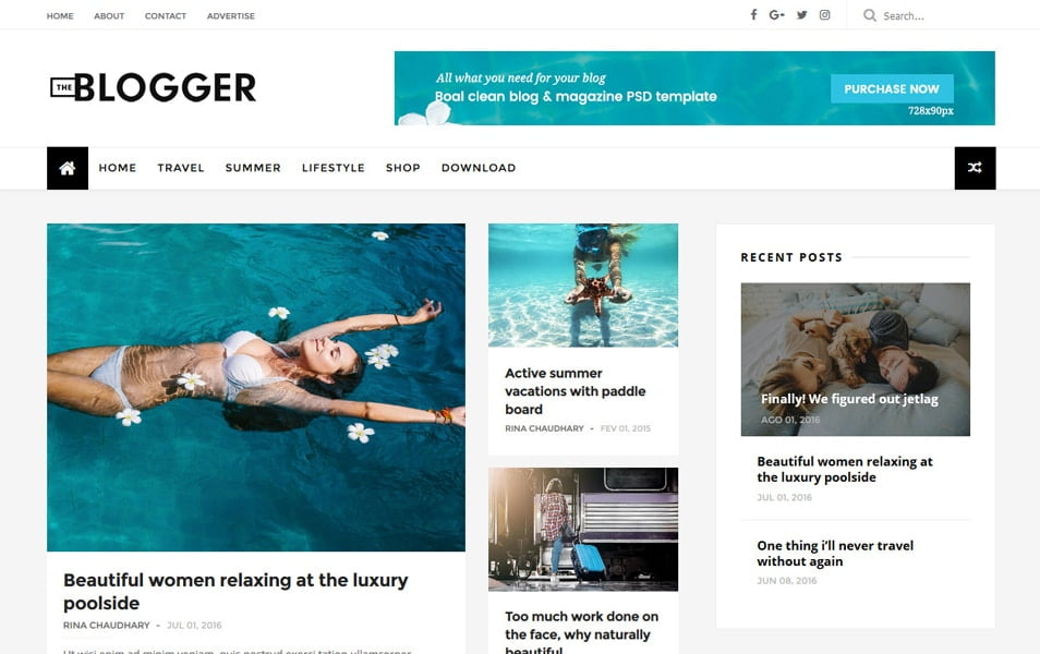 TheBlogger-Responsive-Blogger-Template - 111+ Blogger Top Free Magazine Style Templates [year]