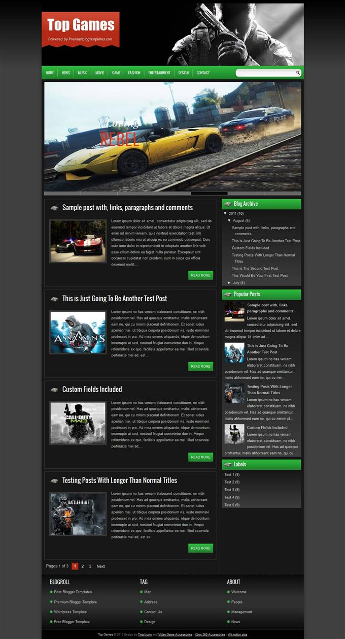 Top-Games-Blogger-Template-Custom - 50+ Top Free Gaming Responsive Blogger Templates 2019