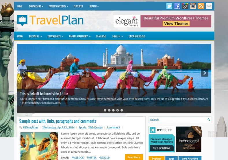 TravelPlan-Blogger-Template-2 - 50+ Top Free Web 2.0 Blogger Templates [year]