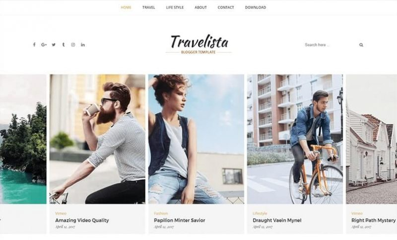 Travelista-800x484 - 53+ Top BEST Free Minimalist Blogger Templates [year]