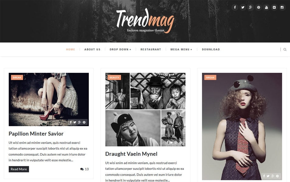 Trendmag-Responsive-Blogger-Template1 - 50+ Top Free Grid Style Blogger Templates 2019