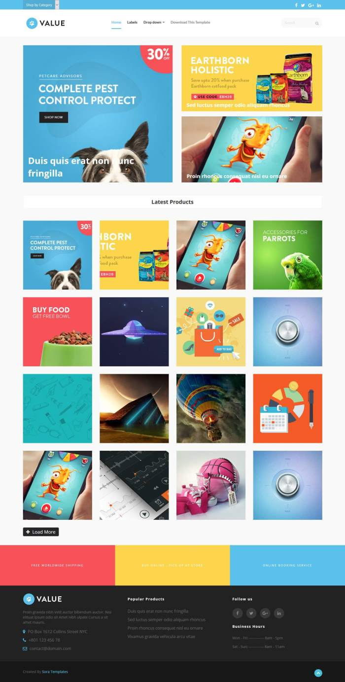 Value-eCommerce-1-1 - 60+ Top Free Ecommerce Blogger Templates [year]