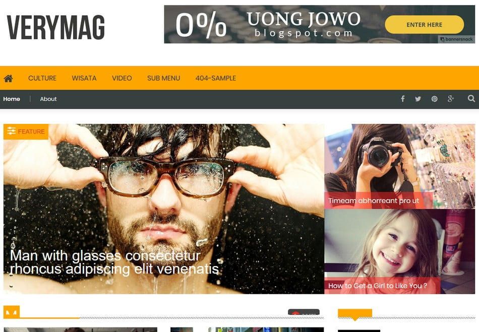 VeryMag-Blogger-Template - 50+ Top Free 3D Blogger Templates 2019