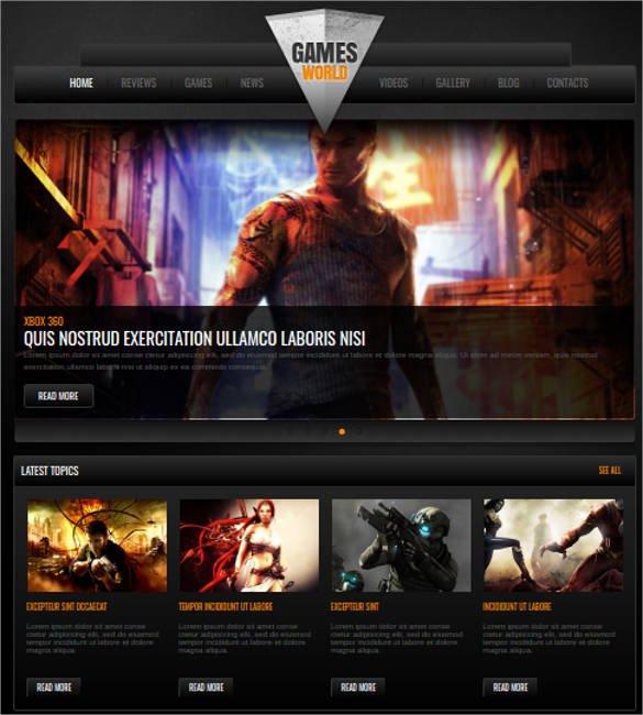 Video-Games-Website - 57+ Best Gaming HTML Website Templates [year]