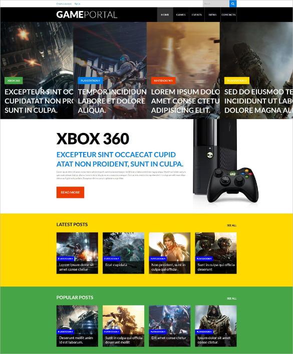 Video-Gaming-Entertainment-WordPress-Website-Theme - 57+ Best Gaming HTML Website Templates [year]