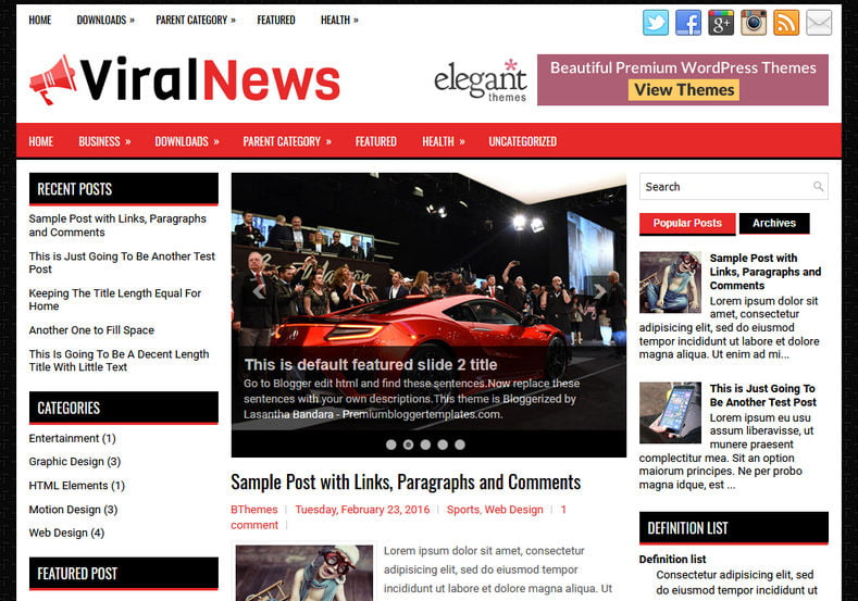 ViralNews-Blog-Blogger-Template-1 - 50+ Top Free Web 2.0 Blogger Templates 2019