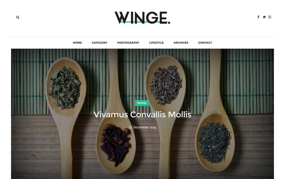 Winge-Responsive-Blogger-Template - 50+ Top Free Grid Style Blogger Templates 2019