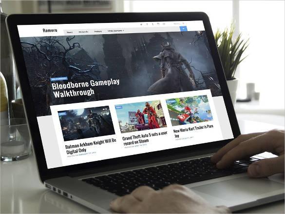 WordPress-Video-Game-Theme - 57+ Best Gaming HTML Website Templates [year]