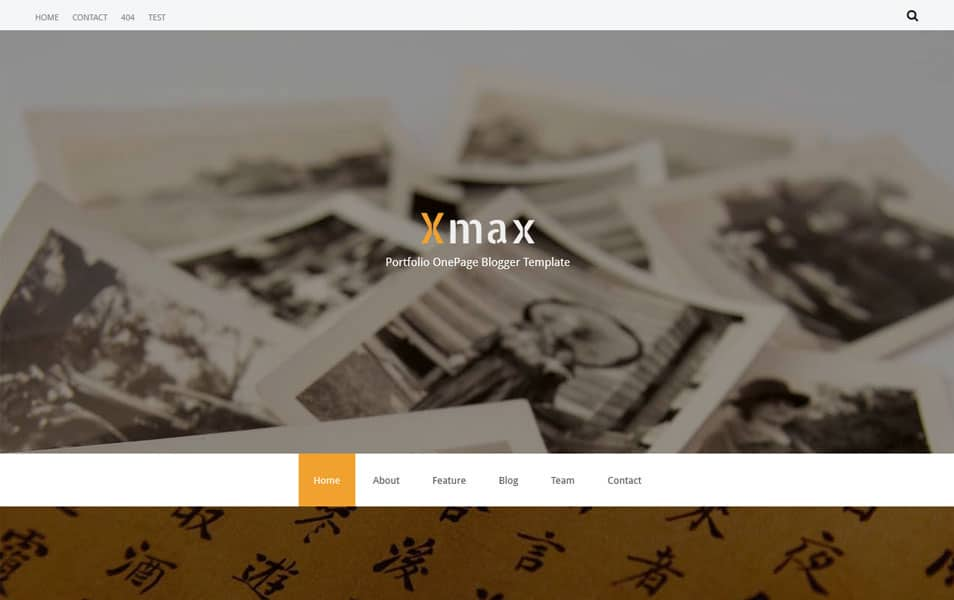 Xmax-One-Page-Portfolio-Blogger-Template - 53+ Blogger Top Free Grid Style Templates [year]