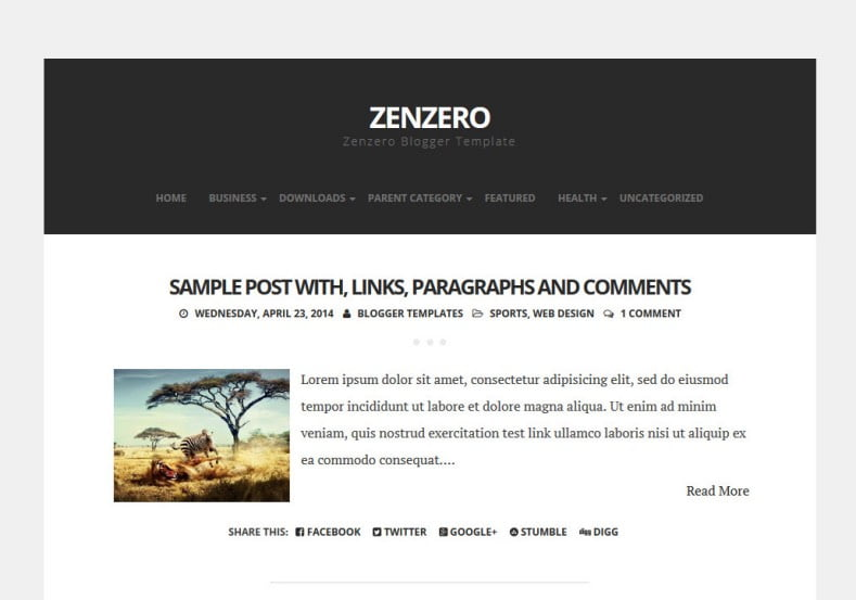 Zenzero-Blogger-Template-2 - 50+ Top Free Web 2.0 Blogger Templates [year]