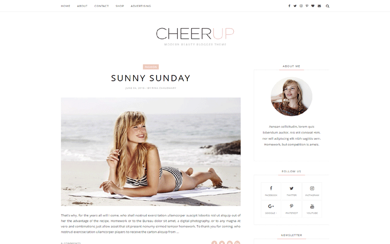cheerup-blogger-template - 54+ Top BEST Free One Page Blogger Templates [year]