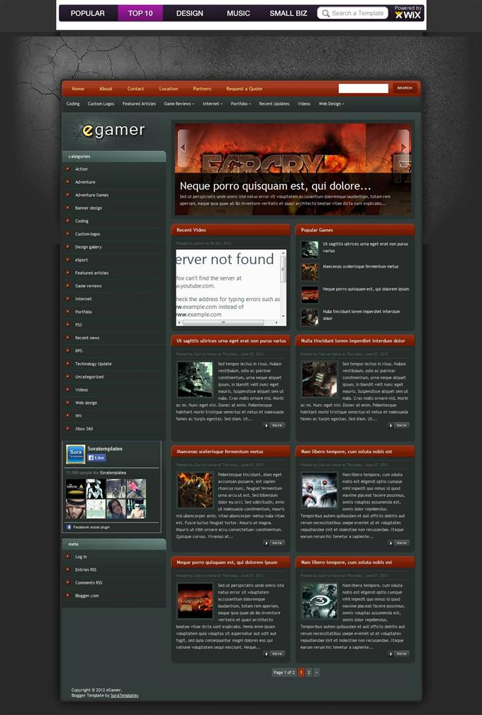 eGamer-Blogger-Template-Custom - 50+ Top Free Gaming Responsive Blogger Templates 2019
