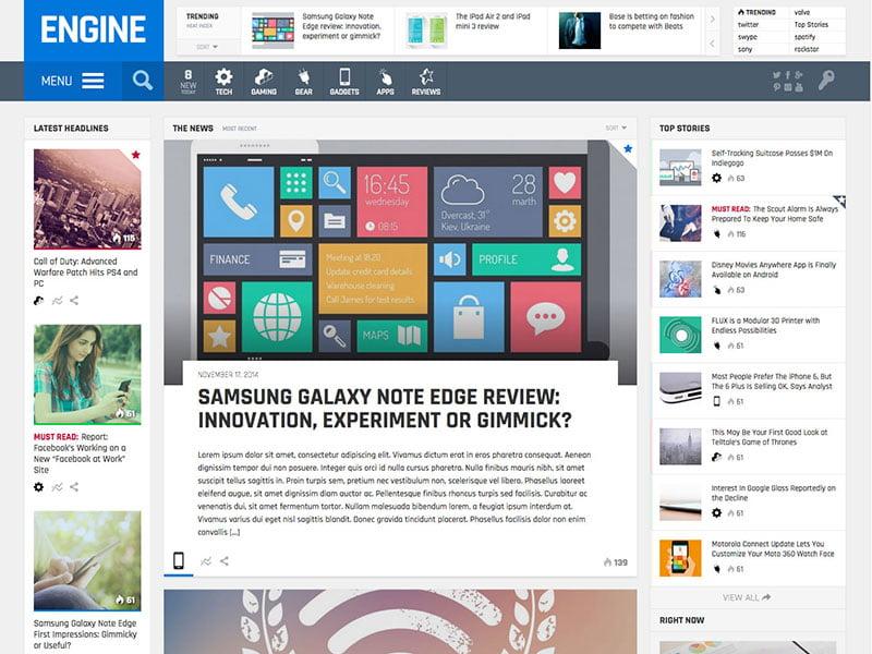 engine-magazine-theme-1 - 50+ Best Video Games WordPress Themes 2019