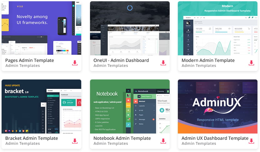 envato_elements_admin - 110+ Top Best Free Bootstrap Admin Templates
