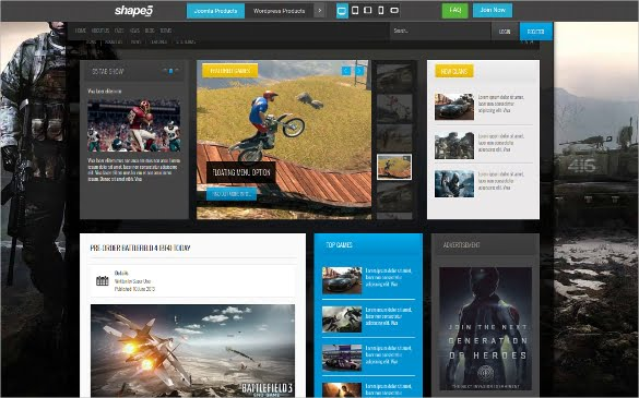 gamer-Joomla-Club-Website-Template - 50 Best Gaming HTML Website Templates 2019