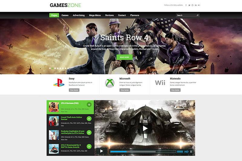 gameszone-gaming-wordpress-theme - 50+ Best Video Games WordPress Themes 2019