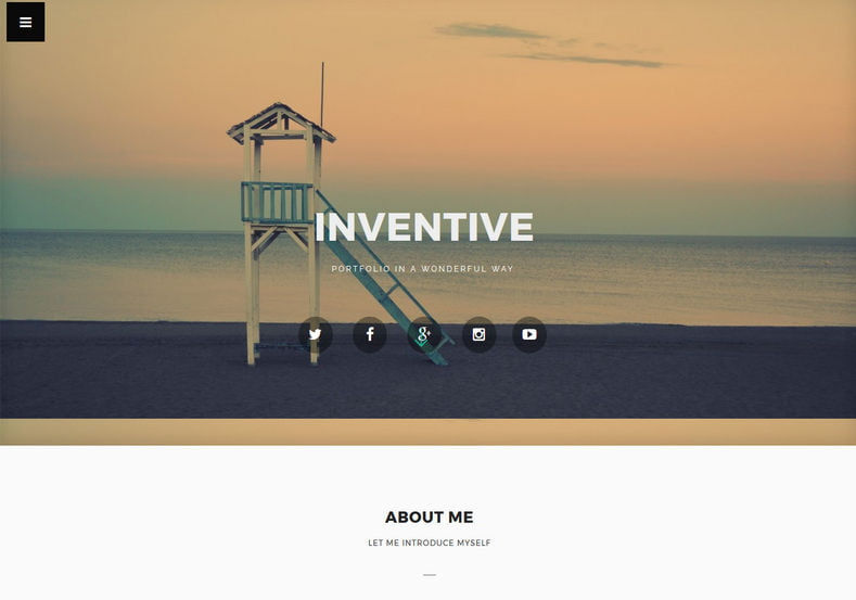 inventive-Blogger-Template - 54+ Top BEST Free One Page Blogger Templates [year]