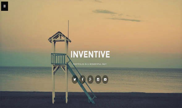 inventive-template - 50+ Top Free Portfolio Blogger Templates [year]