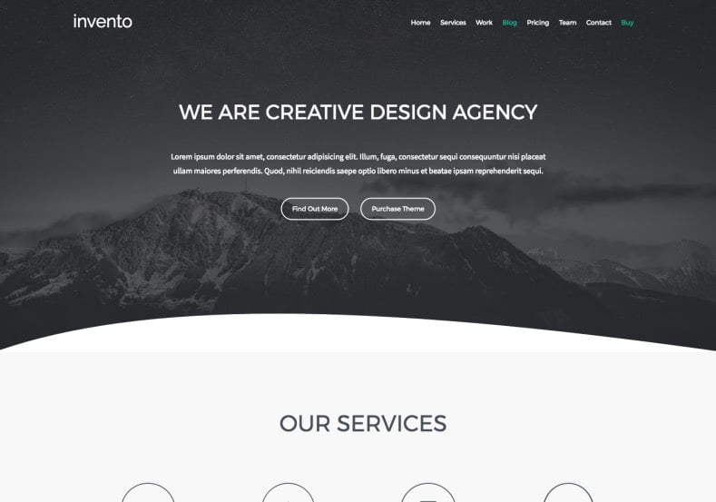 invento-Portfolio-Blogger-Template-2 - 54+ Top BEST Free One Page Blogger Templates [year]