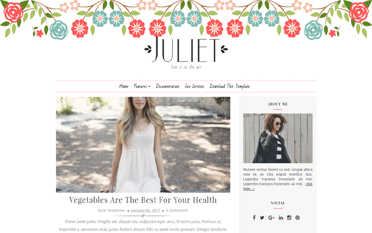 julite-blogger-template - 54+ Top BEST Free One Page Blogger Templates [year]