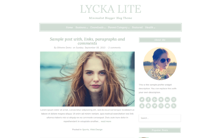 lyckalite-blogger-template - 54+ Top BEST Free One Page Blogger Templates [year]