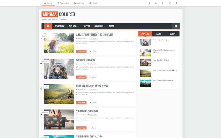 minima-blogger-template-1 - 54+ Top BEST Free One Page Blogger Templates [year]