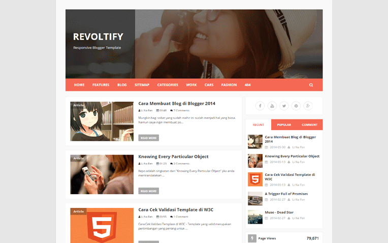 revoltify-blogger-template-1 - 54+ Top BEST Free One Page Blogger Templates [year]