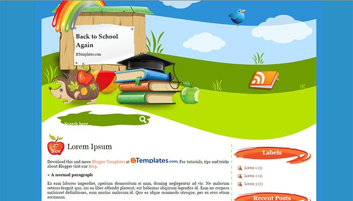 template-blogger-education-backtoschool - 50+ Top Free Education Blogger Templates 2019