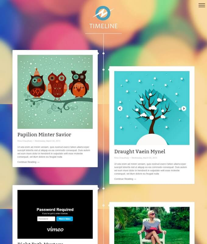 timeline-blogger-template - 50+ Top Free 3D Blogger Templates 2019