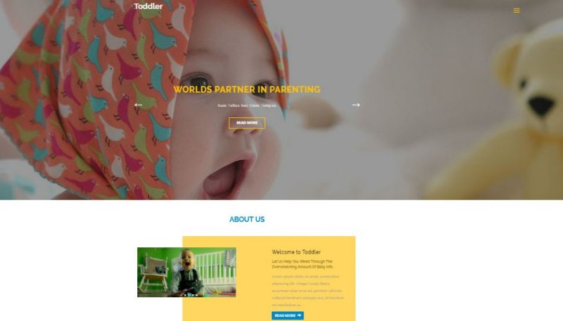 toddler-800x457 - 50+ Top Free Education Blogger Templates 2019