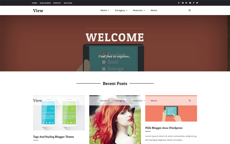 view-blogger-template - 54+ Top BEST Free One Page Blogger Templates [year]