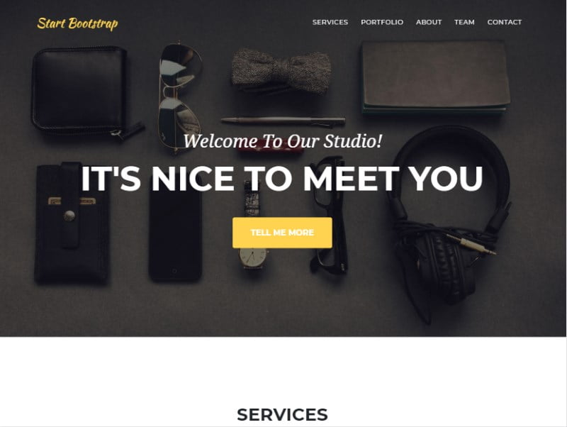 11-agency-start-bootstrap-template - 57+ Best Free Digital Agency HTML Website Templates [year]