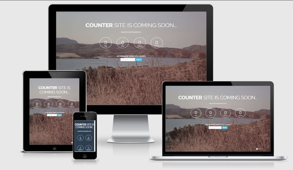 12-Counter - 58+ Free Under Construction HTML Responsive Templates [year]