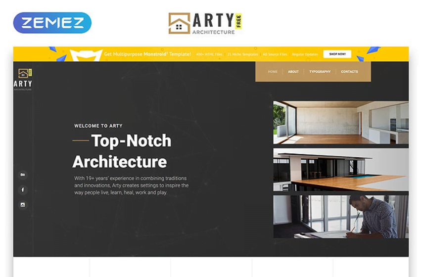 13_Free-HTML5-Theme-Architecture - Top 111+ Free Responsive HTML5 Website Templates [year]