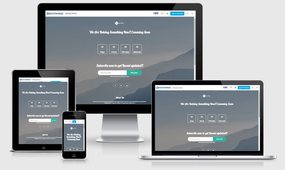 14-Maundry - 58+ Free Under Construction HTML Responsive Templates [year]
