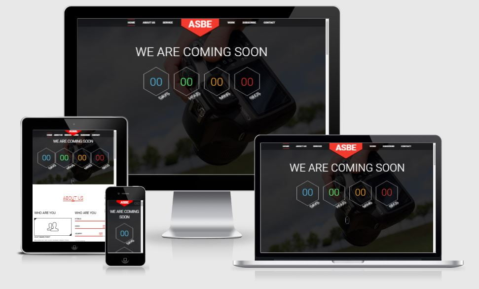 16-Asbe - 58+ Free Under Construction HTML Responsive Templates [year]