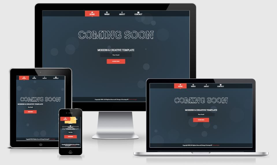 17.coming - 58+ Free Under Construction HTML Responsive Templates [year]