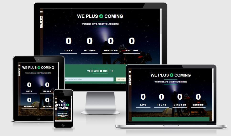 2.wecoming - 58+ Free Under Construction HTML Responsive Templates [year]