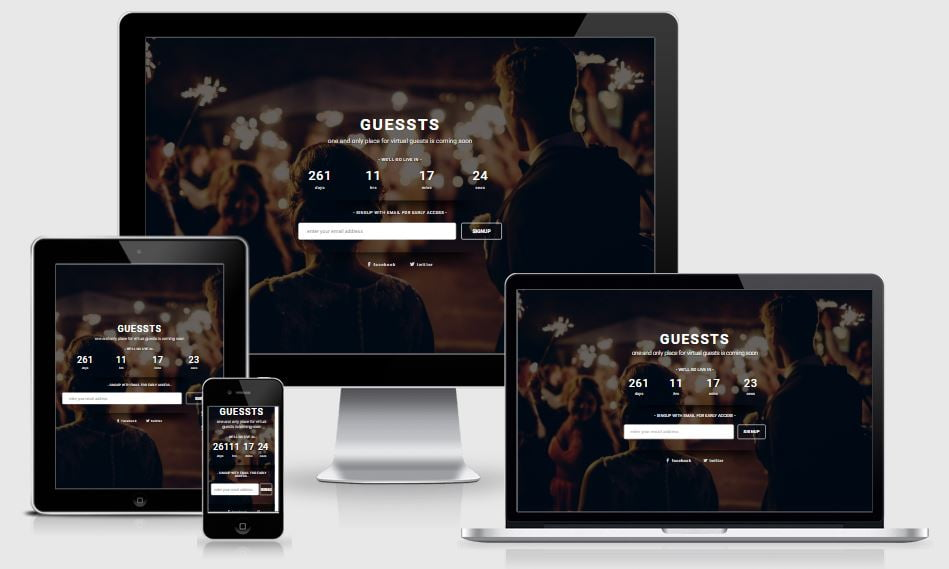 22.guesssts-1 - 58+ Free Under Construction HTML Responsive Templates [year]
