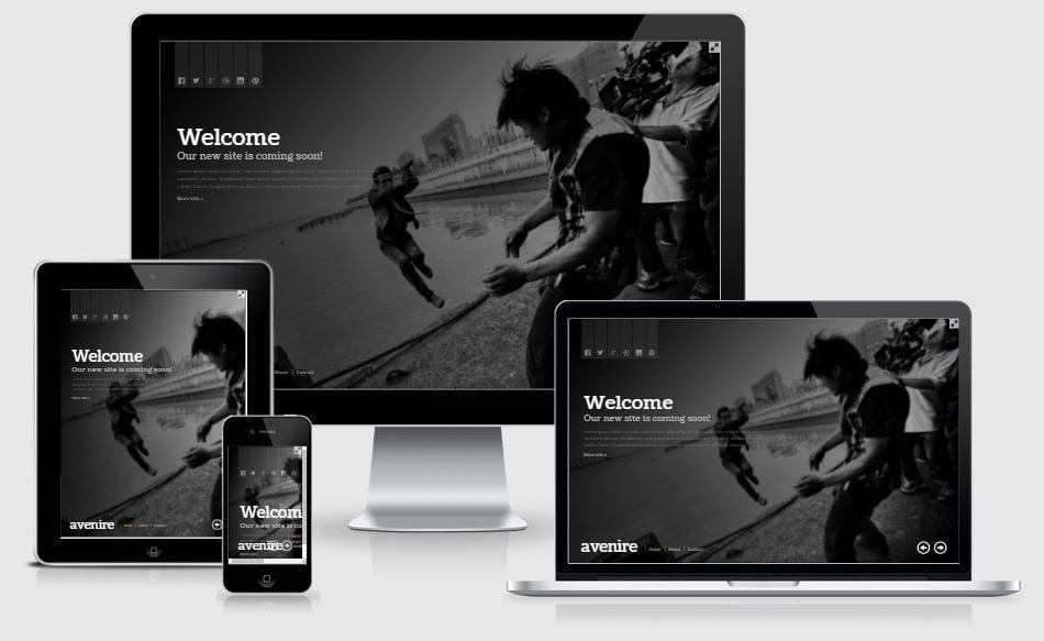 23.avenir - 58+ Free Under Construction HTML Responsive Templates [year]